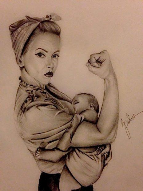allattamento seno mamma bambino