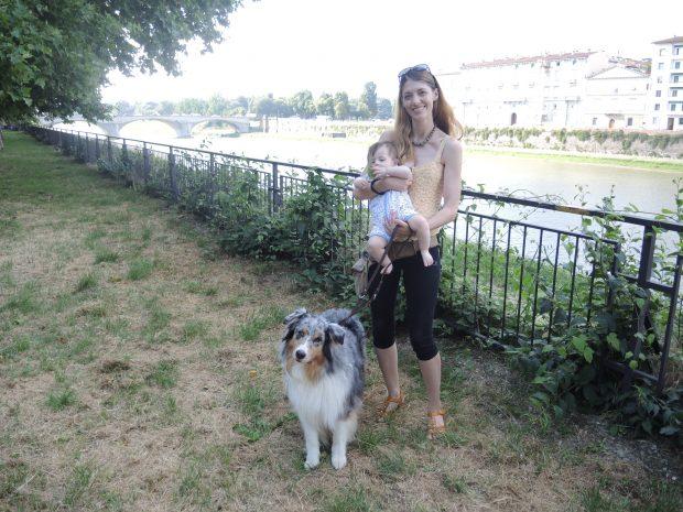 bimbi cane firenze fiume