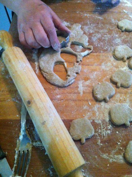 preparazione biscotti per cani